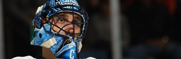 Roberto Luongo, il goalie capitano dei Vancouver Canucks