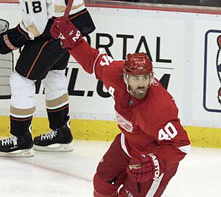Zetterberg protagonista con i suoi Red Wings