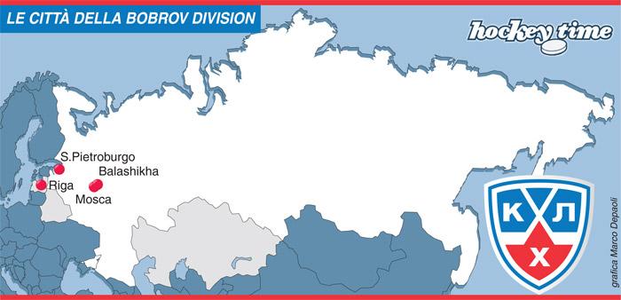 khl bobrov KHL: Le città della Bobrov Division