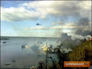 Le prime immagini del disastro aereo