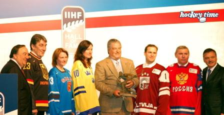 I premiati alla cerimonia della IIHF Hall of Fame Induction 2010