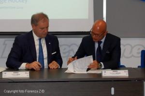 Andrea Gios (Presidente FISG) ed Ermanno Grassi (Direttore Generale Itas) firmano il contratto di sponsorizzazione