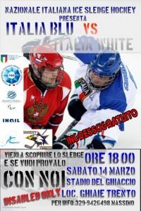Nazionale sledge 2015 Trento