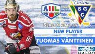 Riprende il mercato del Cortina con l'acquisto Tuomas Vänttinen, trentaquattrenne in cerca di riscatto, dopo una stagione vissuta da spettatore a causa di un infortunio. L'intera carriera dell'attaccante si è […]