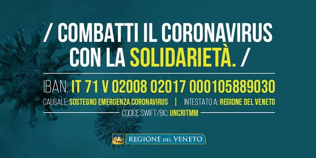 """""""Stanno affluendo, con la consueta generosità e senso di solidarietà dei Veneti, tante offerte di sostegno al sistema sanitario impegnato nell'immane sforzo di fronteggiare il Coronavirus. Questo è grande segnale […]"""
