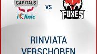Il match previsto per questa sera tra iClinic Bratislava Capitals e HCB Alto Adige Alperia è stato nuovamente rinviato a data da destinarsi, come misura di prevenzione a causa di […]