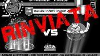 La partita di questo sabato è rinviata a data da definirsi. L'incontro previsto per domani sera all'Agorà contro l'Hockey Pergine Sapiens è stato rinviato, come misura di prevenzione a causa […]